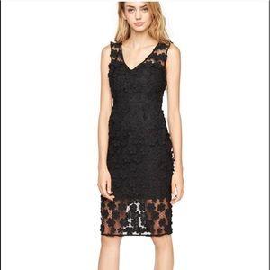 Milly LBD Flower Embellished Black Dress Size 4